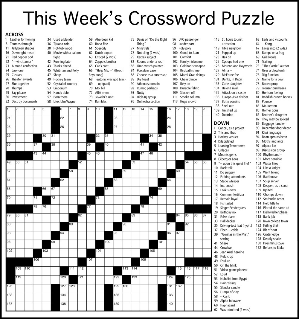 Document With A Letter Crossword