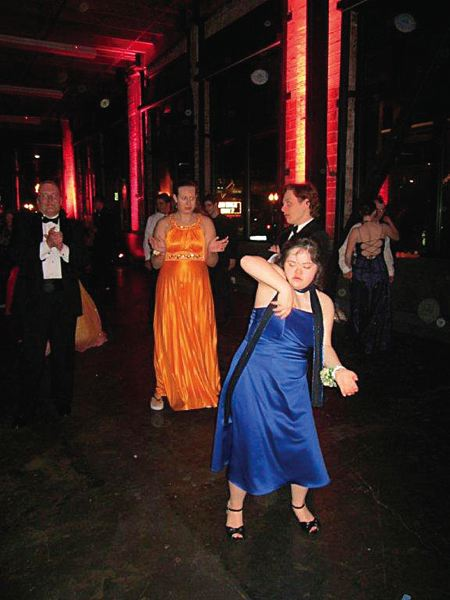 by: SUBMITTED PHOTO - Tigard High School student Melissa Lane dances at prom in 2011. A Unified Dance for the school's special needs population is planned at the school next week.