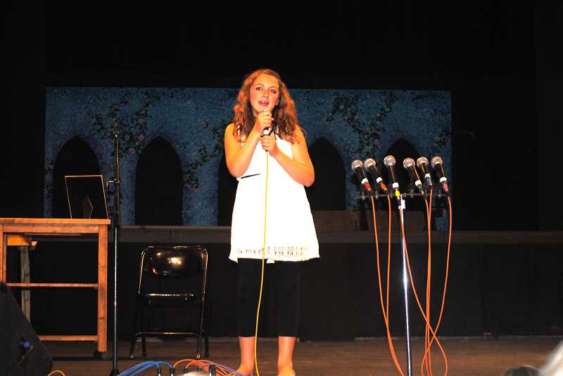 Cameron Weger, a fifth-grader at Stafford Primary School, sings 'Ours' by Taylor Swift at Wildcat Idol.