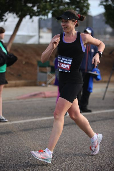 by: JEFF SALVAGE - Erin Taylor-Talcott, who grew up in Clackamas, holds three American records in competitive racewalking. Shell be in Eugene on Sunday, competing for a spot on the U.S. Olympic Racewalking Team.
