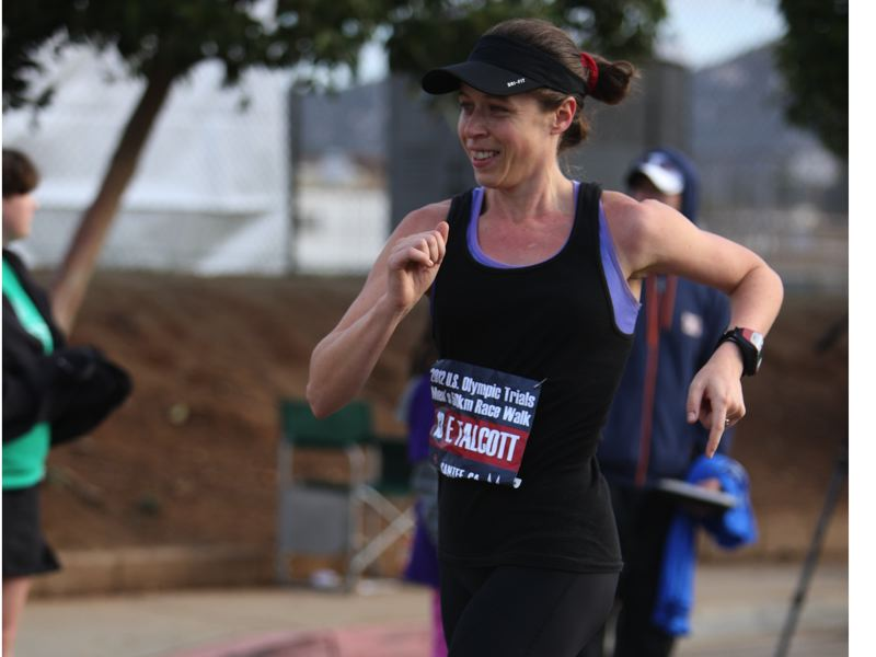 by: JEFF SALVAGE - Erin Taylor-Talcott, who grew up in Clackamas, holds three American records in competitive racewalking. She'll be in Eugene on Sunday, competing for a spot on the U.S. Olympic Racewalking Team.