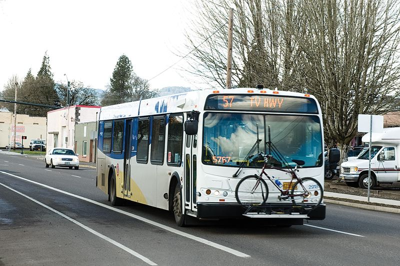 by: FILE PHOTO: CHRISTOPHER ONSTOTT - The 57 bus line connects Forest Grove to Beaverton. Last year another mother complained about being kicked off the bus.