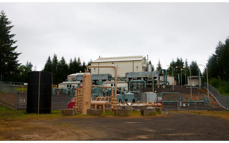 by: PAMPLIN MEDIA GROUP: CHRISTOPHER ONSTOTT  - This complex near Mist, a small town an hour northwest of Portland, was Oregon's largest natural gas field, and now is mostly used by NW Natural to store large quantities of natural gas underground.