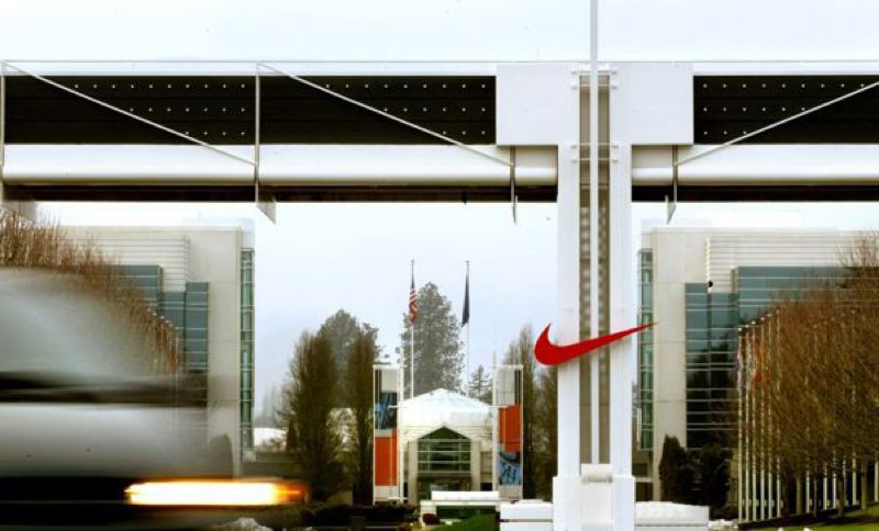 by: L.E. BASKOW: PORTLAND TRIBUNE FILE PHOTO - Nike officials said Thursday they were taking Joe Paterno's name off the Nike World Campus child care center. Revelations in a 267-page report on the child sex abuse scandal at Penn State prompted the action.