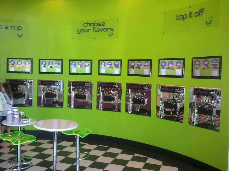 by: SUBMITTED PHOTO - Crave Frozen Yogurt will offer a family fun place in a high tech atmosphere at Willamette Marketplace.