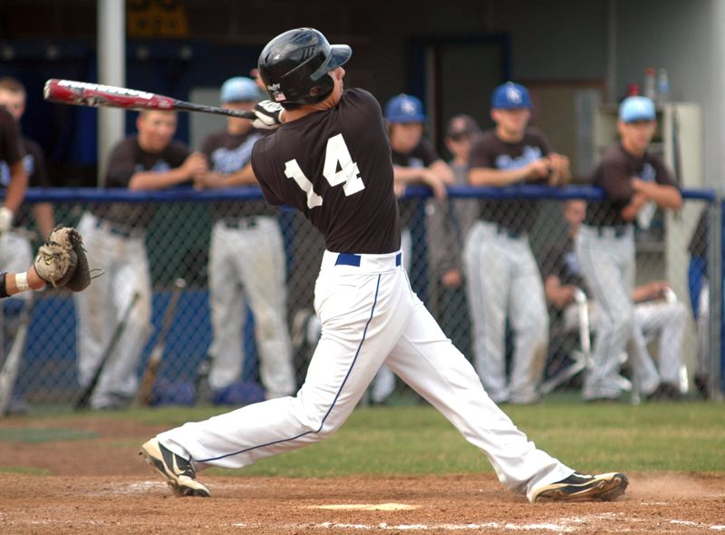 by: KRISTOPHER ANDERSON - Evan Jones connected for a solo home run in the fifth inning, in Barlow's 7-0 win over the Sandy Pioneers