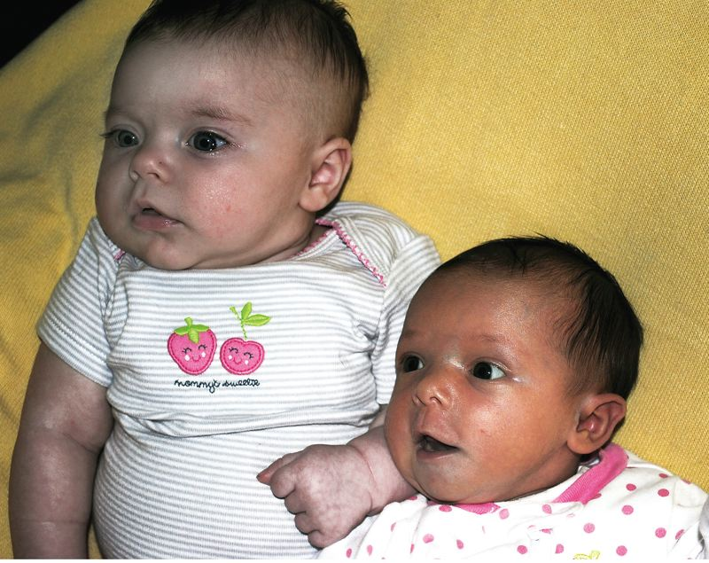 by: CONTRIBUTED PHOTO - Hanna Alexis Debra Wright, left, and her cousin, Rylee Diane Reyes.