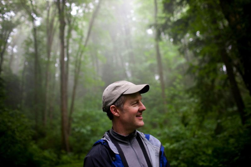 by: CHRISTOPHER ONSTOTT/PAMPLIN MEDIA GROUP - John Deshler of Portland Parks & Recreation is spearheading the first-ever project to chronicle all the wildlife species that call Forest Park home.