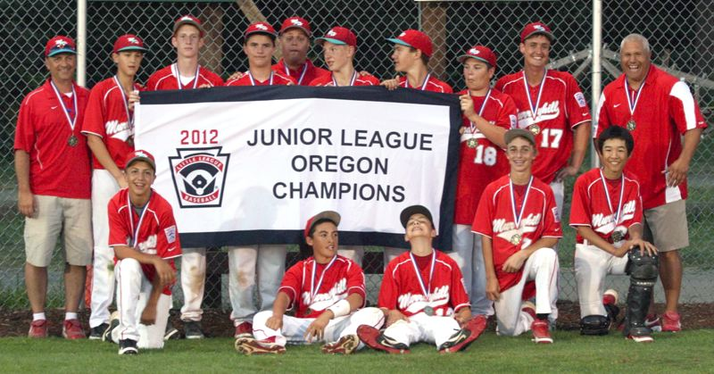 by: SUBMITTED PHOTO - ON TO REGIONALS - The Murrayhill Juniors all-star baseball team was all smiles after winning the Oregon state tournament last week. Murrayhill now heads to the Western Regional tournament in Vancouver, Wash.