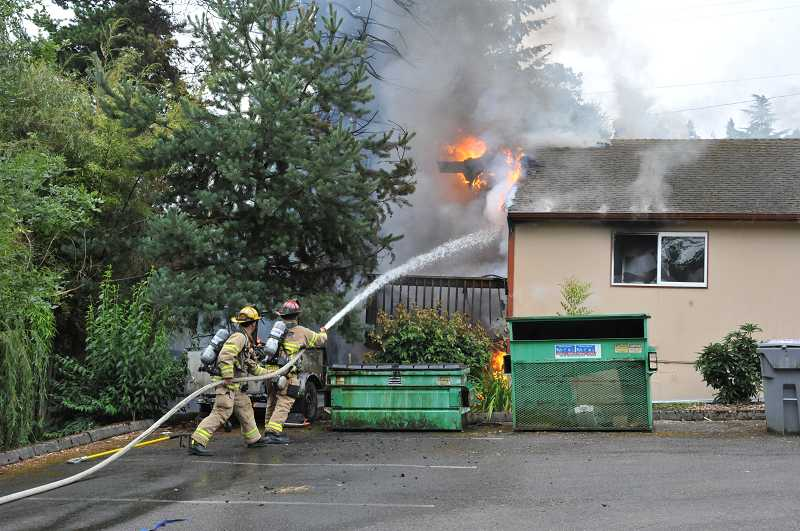 by: JEFF GROSS - TVF&R responded to a fire this morning in West Linn.