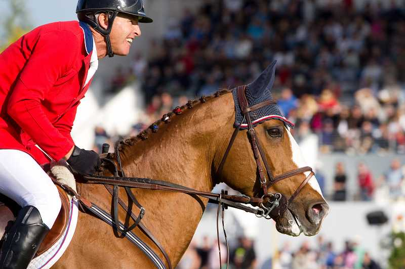 by: SOPHIE DURIEUX/USEF - Sherwoods Rich Fellers is competing in his first Olympics this weekend, hoping to bring home the USAs third gold medal in equestrian show jumping.