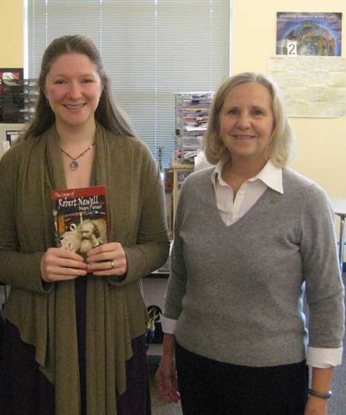by: SUBMITTED PHOTO  - The National Society of Daughters of the American Revolution named Wilsonville High School history teacher Elizabeth Hamer U.S. History Teacher of the Year. Standing with Hamer is Tualatin chapter member Marilyn Olson.