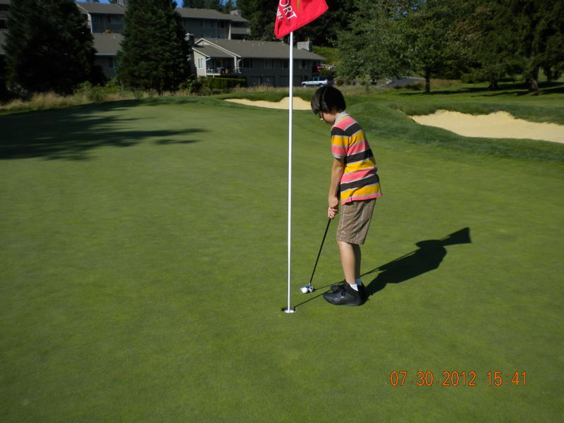 by: KEEGAN RYAN - So Close! Keegan Ryan was so close to a hole-in-one during a recent golf game.