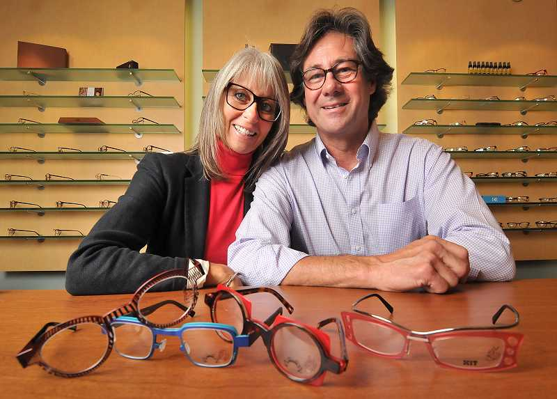 by: VERN UYETAKE - Lisa and Bob Martinsson have something new to offer in Lake Oswego with Glance Optics and Eyewear on 220 A Avenue.