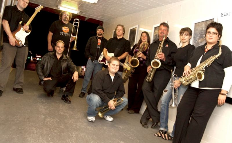 by: CONTRIBUTED PHOTO - The horn-driven band Return Flight will perform  Saturday, Aug. 25, at Fairview on the Green.