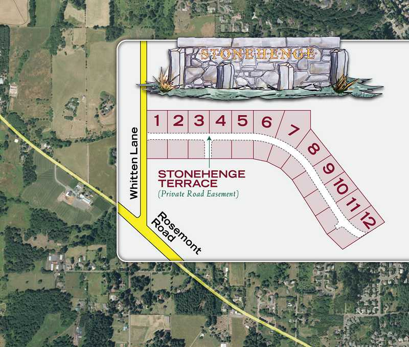 Twelve one-acre lots are planned for the Stonehenge development west of West Linn and south of Lake Oswego.