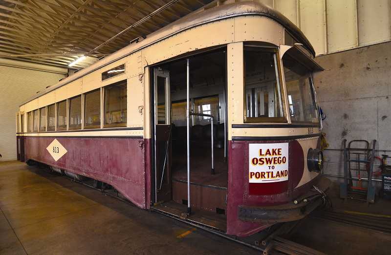 by: VERN UYETAKE - Lake Oswego's last trolley car sits in the barn off State Street. This trolley car was recently retired, but the city expects to receive a vintage replacement soon. Operating the trolley protects the city's interest in the Willamette Shore Line right of way, which a governmental consortium bought in the 1980s to use for mass transit.