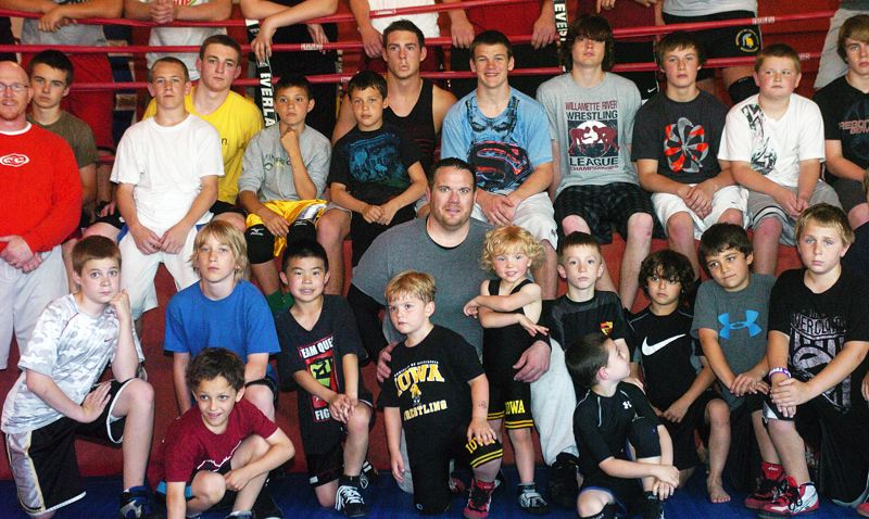 by: DAN BROOD - FAN FAVORITE -- Matt Hoover was a hit at the Tualatin Wrestling Camp this summer. He's also been a winner on the Biggest Loser.