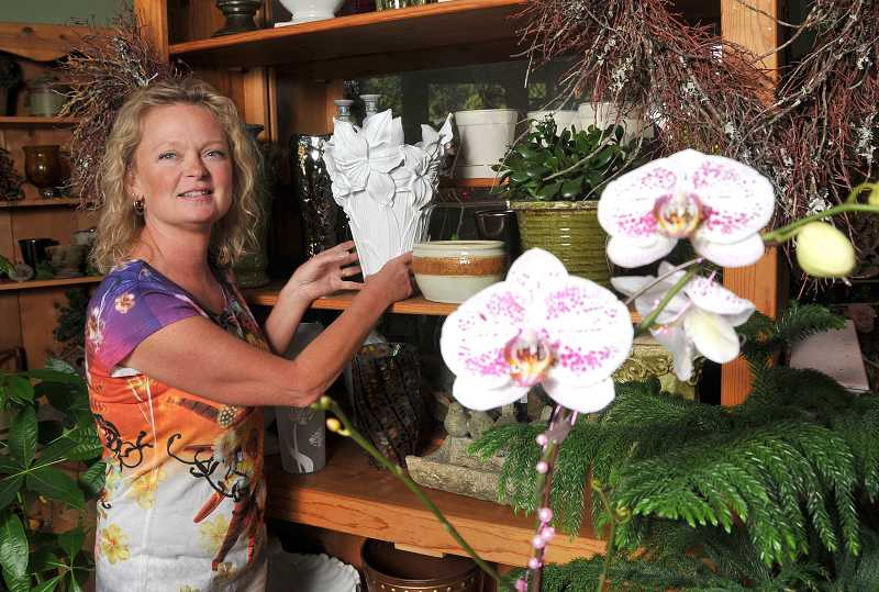by: VERN UYETAKE - Wishing Well owner Janine Voll says that because of their special local ties, they have developed a strong local following where customers count on her for all their important floral needs.