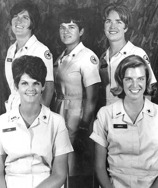 by: SUBMITTED - Five friends from Vietnam will be holding a reunion on Sept. 7. Here is the way they were in 1969: Front row, Jane Smith and Jenny Young. Back row, Tara de Arrietta, Linda Bryant and Driscoll.