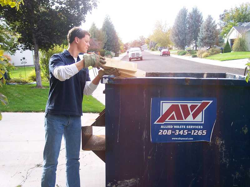by: SUBMITTED PHOTO - An Allied Waste Services collection bin.