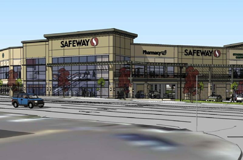 Rendering of the new Safeway store on Barbur Blvd.
