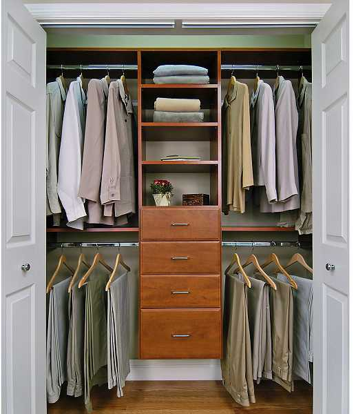 by: SUBMITTED PHOTO - Triple your closet space by keeping organized and creating built-in storage units.