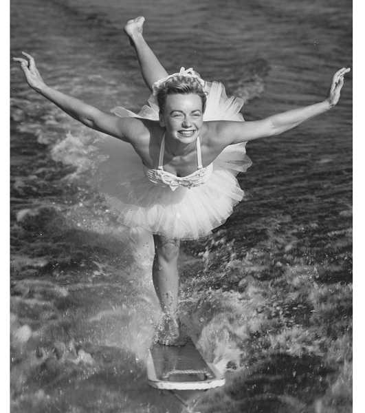 by: SUBMITTED PHOTO: WESTERN WATER SKI MUSEUM - Willa Worthington is shown doubling for swim sensation Esther Williams in the move 'Easy to Love.' Willa was easy to love, too, with her Hollywood-ready smile.