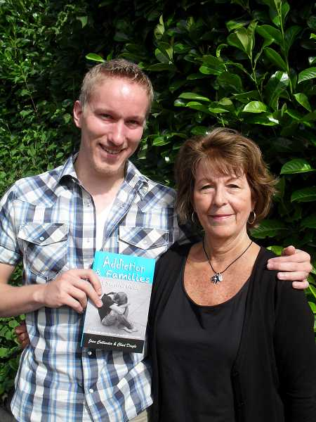 by: REVIEW PHOTO: BARB RANDALL - Chad Dingle and his mother, Joan Callander, have written 'Addiction and Families: A Survival Guide.'