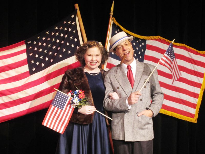 Maille O'Brien packs the punchlines as Gracie Allen alongside Paul Roder as George Burns in HART's latest production, Gracie for President, opening this week in Hillsboro.