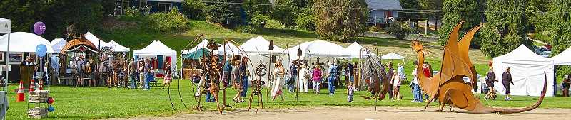 by: RON LE BLANC - Last year's West Linn Arts Festival featured plenty of art booths, 3D metal works and food vendors.