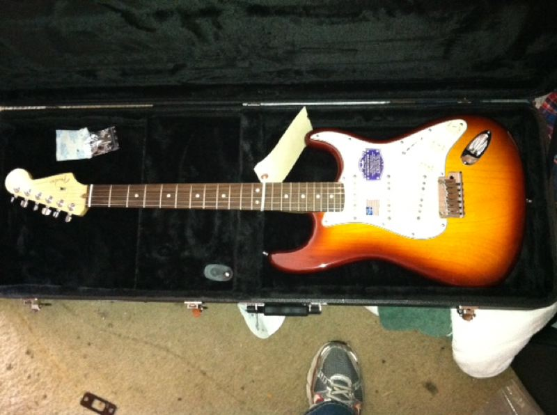 by: SUBMITTED PHOTO - This is one of the reportedly stolen guitars suspects were selling on eBay in an organized retail theft ring.