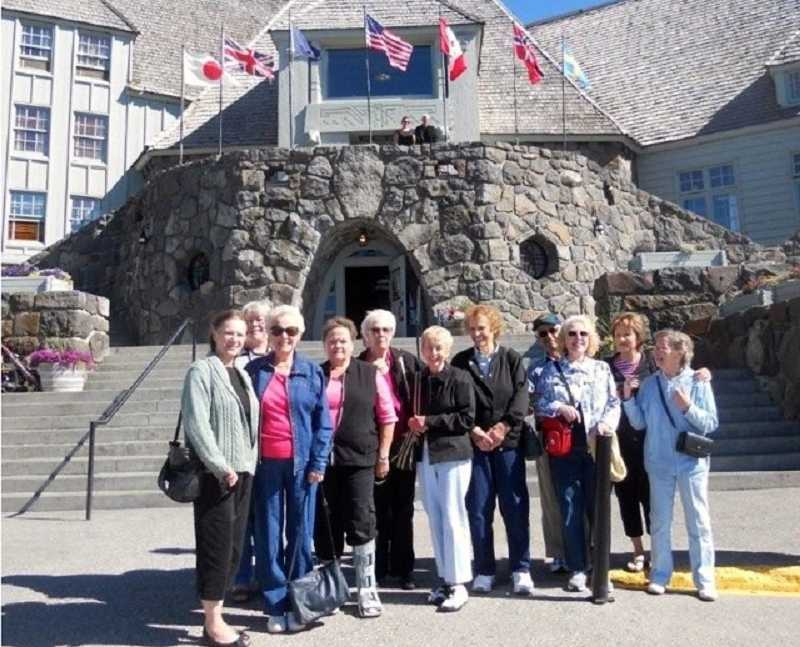 by: SUBMITTED PHOTO - A group from the WLACC enjoys exploring Timberline Lodge.