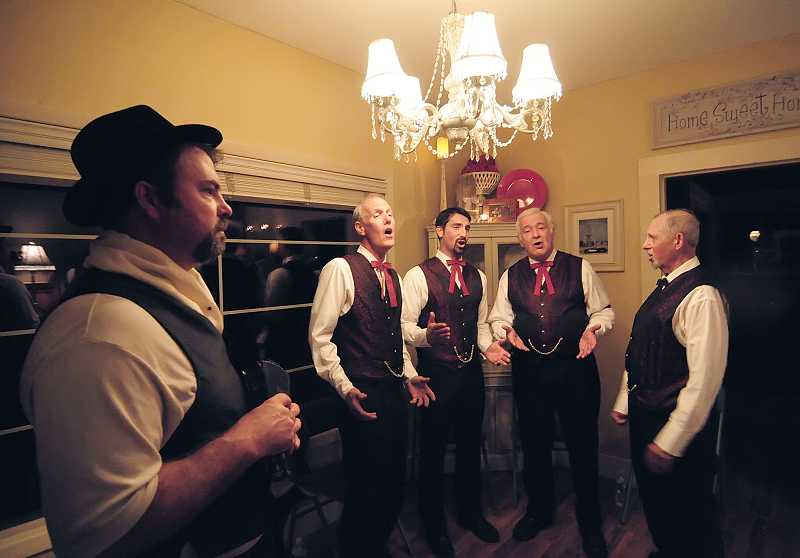 by: VERN UYETAKE - A barbershop quartet performs each year as part of the Willamette Living History Tour.