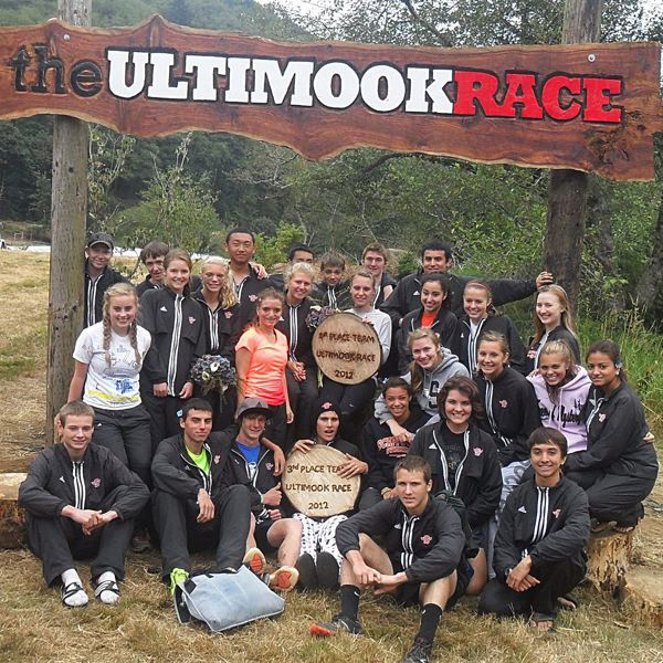 by: SUBMITTED PHOTO - The Scappoose High Cross Country teams had a pretty good outing at the Ultimook 5K meet on Saturday, near Tillamook. The Tribe girls took second, behind defending 6A champions South Eugene.