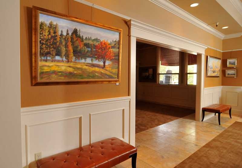 by: VERN UYETAKE - The Lakewood Center's redesign features a special room that can be closed off from the lobby for receptions and private events.