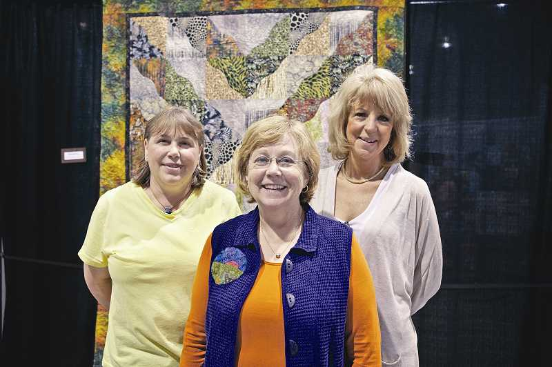 by: JAIME VALDEZ - Shellie O'Donnell, Laura Dickson and Geri Grasvik, who 'all share a passion for anything related to sewing, quilting and other creative arts,' came up with the idea for the first NW Quilting Expo in 2001.