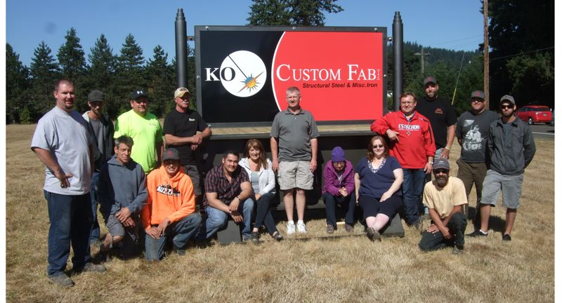 by: SUBMITTED PHOTO - After shrinking to as few as two shop workers, KO Custom Fab in Estacada is back up to more than 15 workers.