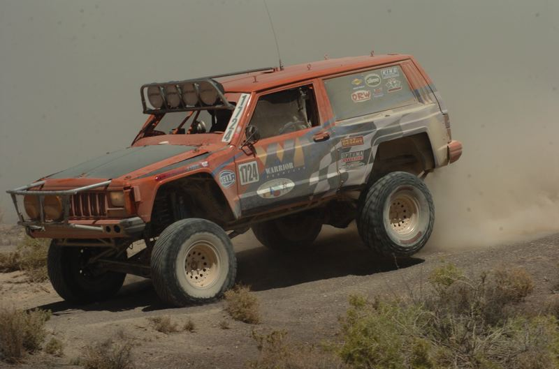 by: SUBMITTED PHOTO - Rob and Cliff Seubert of Seubert Machining in Estacada race their Jeep in the Best in the Desert series in Nevada and Arizona. They are currently in third place.