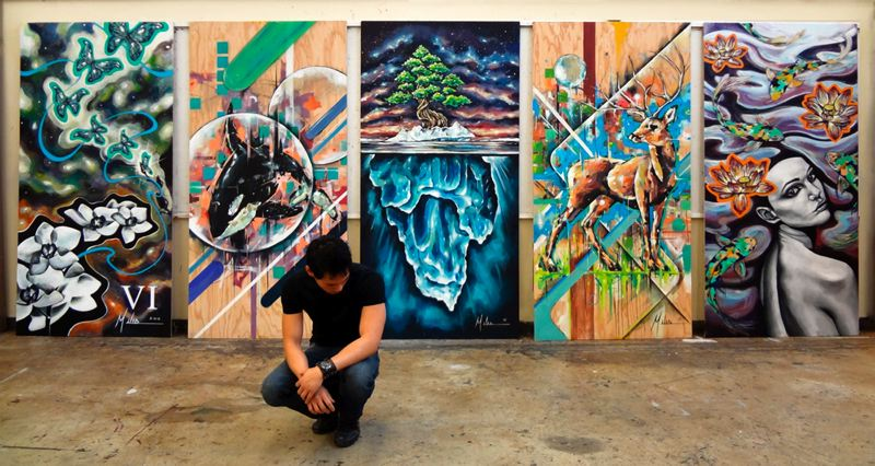by: CONTRIBUTED PHOTO - Miles Browne will exhibit several of his paintings at Mt. Hood Community College.