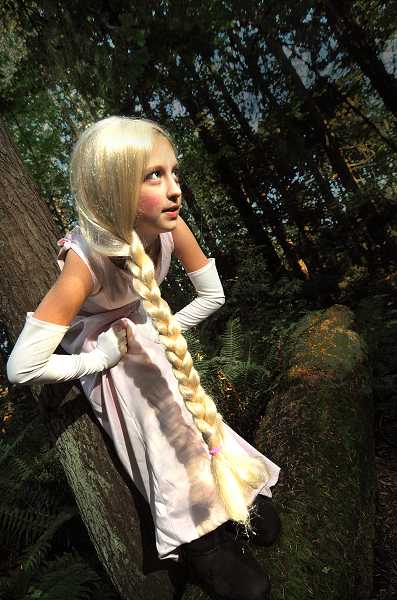 by: VERN UYETAKE - Brittany Williams portrayed Rapunzel  at last year's Enchanted Trail at Mary S. Young  State Park.