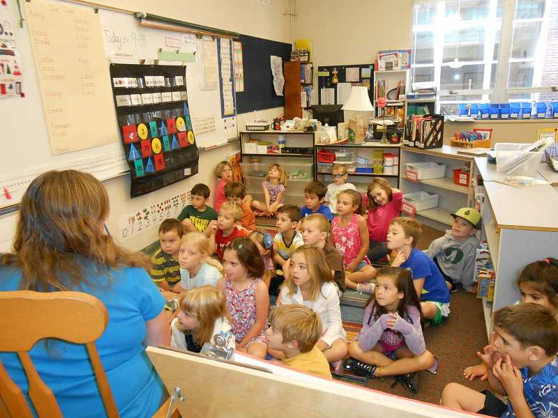 by: JORDY BYRD - Jean McCormick teaches a K/1 blended class at Bolton Primary School. Two blended classrooms were created due to increased enrollment in first grade and low enrollment in kindergarten.