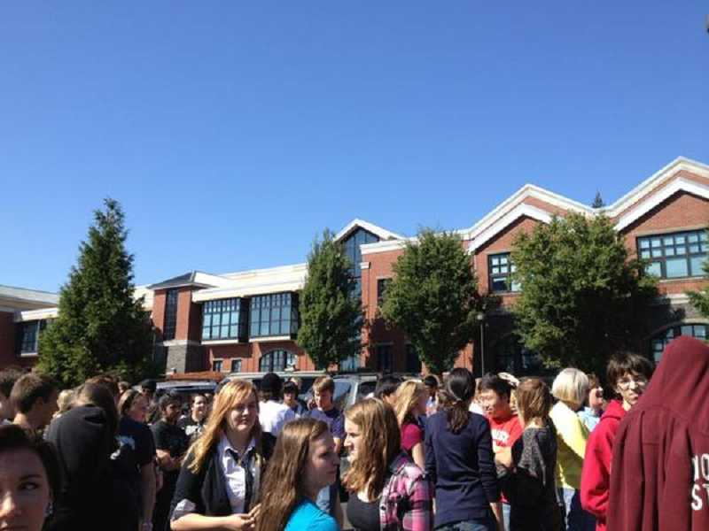 by: SUBMITTED - A small fire in an art classroom led to an all-school evaculation Sept. 12 at Lake Oswego High School.