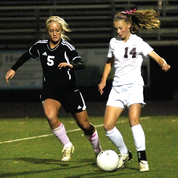 by: DAN BROOD  - Sandy junior Zoe Higgins, left, is among the top returners from a 2011 season that ended in the play-in round to Wilson. The forward has already committed to play at the University of Oregon.