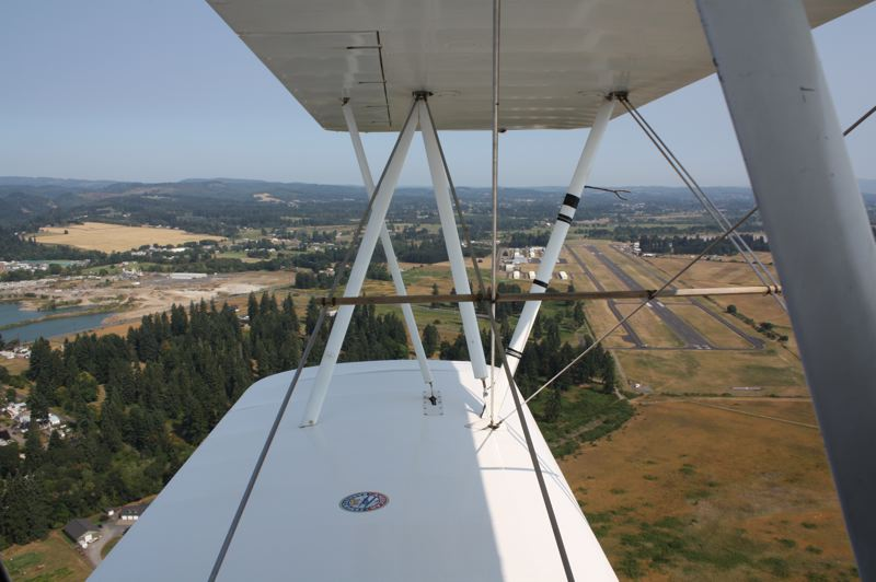 by: KATIE WILSON - As seen from a plane, Scappoose has hundreds of vacant acres around its airport, which officials say is ready for presumed future industrial expansion.