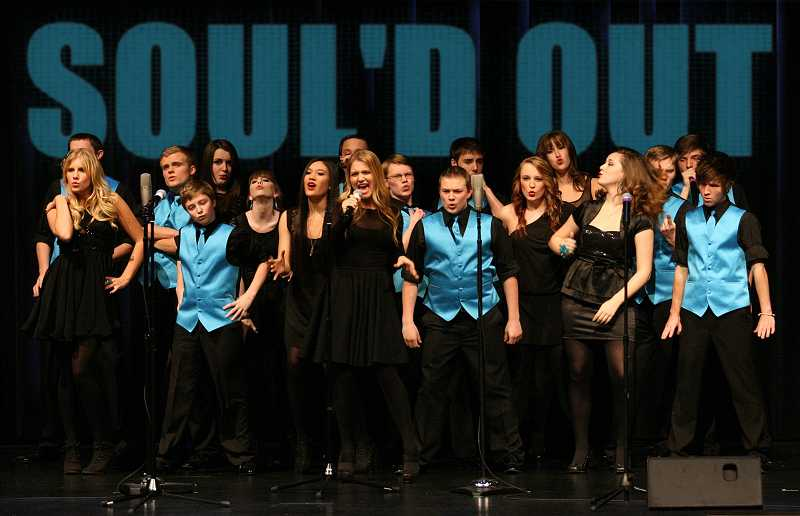 by: SUBMITTED - Wilsonvile High School choir Soul'd Out performed on NBC's 'The Sing-Off' last year. They will perform Oct. 6 at the Music and Arts Partners event.