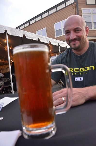 by: VERN UYETAKE - Last year, David Bell of West Linn, enjoyed a tall glass of beer at Oktoberfest.