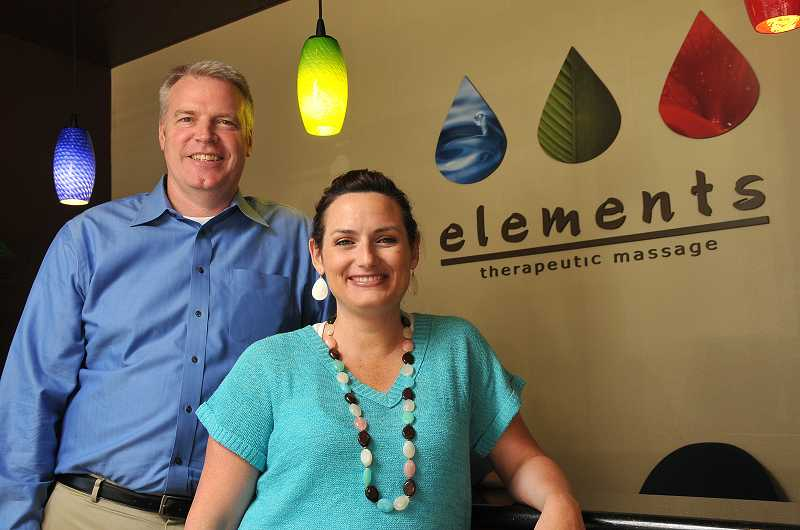 by: VERN UYETAKE - Owner Rick Snook and manager Carisa Smith are excited for the community to see the upgrades and renovations at Elements.