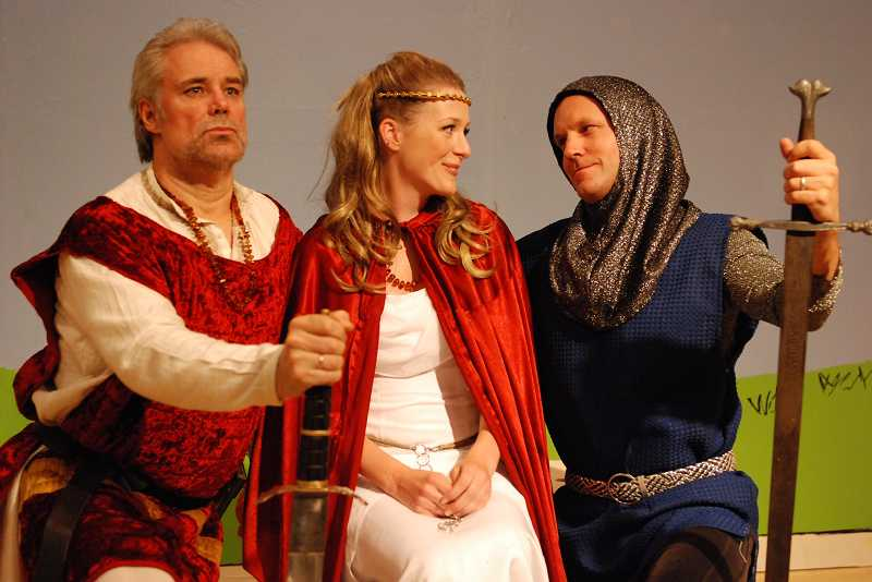 by: AMMON RILEY - Directed by Dennis Britten, 'Camelot' features Kevin Martin as King Arthur, Marian Horton as Lady Guenevere and Scot Crandal as Sir Lancelot.