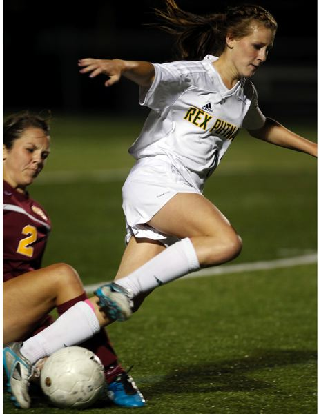 by: JAIME VALDEZ - Putnam offensive standout Makenzie Maier is tripped up during a 2011 preseason game with Crescent Valley. After sitting the 2012 preseason with a concussion, Maier is expected to be back in action for this weeks Northwest Oregon Conference opener with Sherwood.